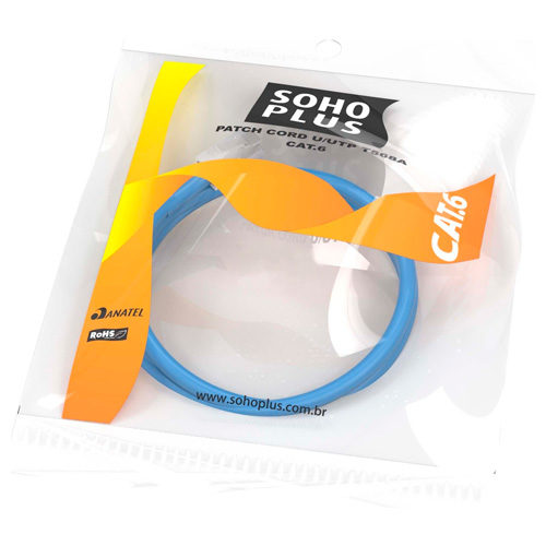 Patch Cord Soho Plus Azul Cat6 1.5metros T568B – Furukawa