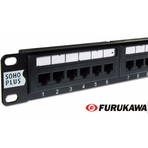 Pach Panel Soho Plus 24 Portas 568A/B Categoria 5e Padrão Rack 19 polegadas – Furukawa