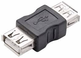 Adaptador Emenda USB-A Fêmea x USB-A Fêmea Versão 2.0